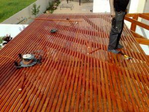 פרגולות עץ לגג